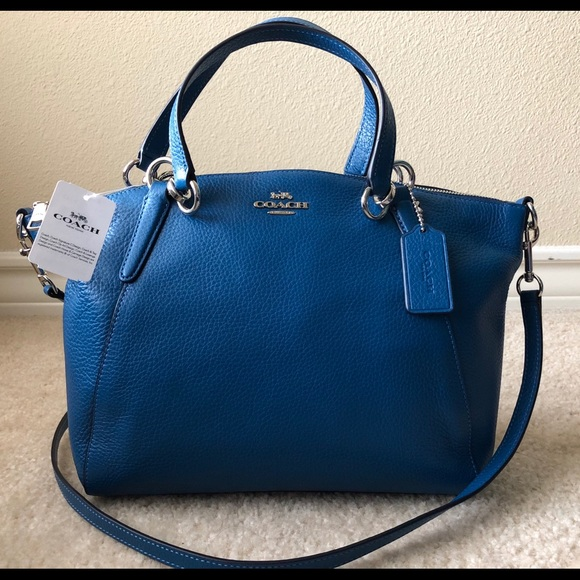 e52a10f9770a  SALE  NWT💙Coach Kelsey Pebble Leather Satchel